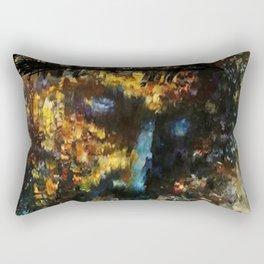 jesus christ abstract painting Rectangular Pillow