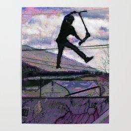 Deck Grab Champion - Stunt Scooter Art Poster