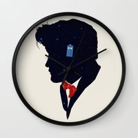 dr who Wall Clocks featuring Dr Who - Geronimo by Duke Dastardly