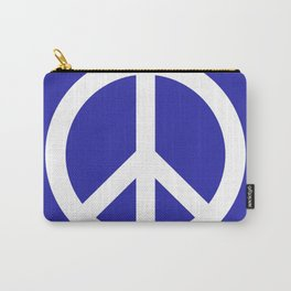 Peace (White & Navy Blue) Carry-All Pouch