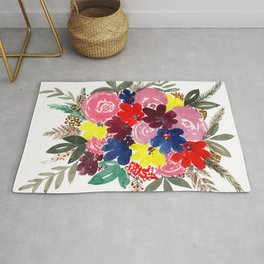 Floral Bouquet Beauty Rug