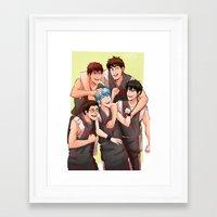 kuroko Framed Art Prints featuring KUROKO NO BASUKE - SEIRIN by kvei