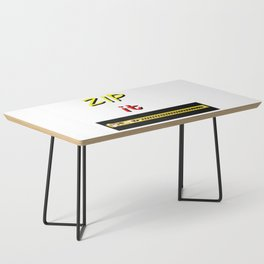 Zip it Black Yellow Red jGibney The MUSEUM Gifts Coffee Table