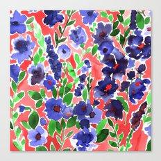 Isla Floral Orange Canvas Print