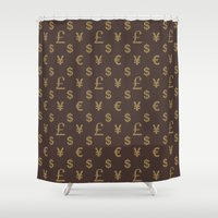 gucci Shower Curtains featuring Addicted to Fashion by VilmosVagyoczki