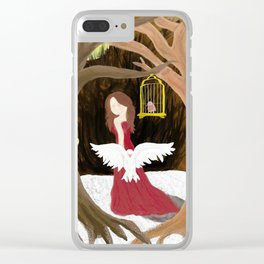 The Old Woman in the Woods Clear iPhone Case