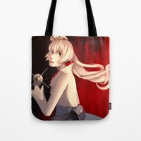rwby Tote Bags featuring Burning Cold by Bellalyse