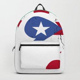 Ireland Irish Puerto Rican St Patrick's Day design Backpack