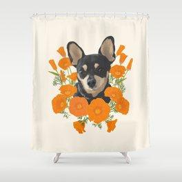 Poppy Dog Shower Curtain