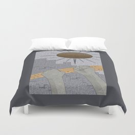 All Barriers Crumble and Fall - (Artifact Series) Duvet Cover
