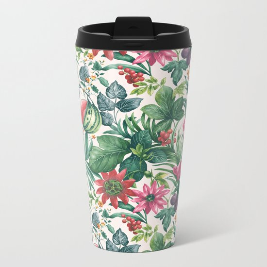 Garden pattern I Metal Travel Mug