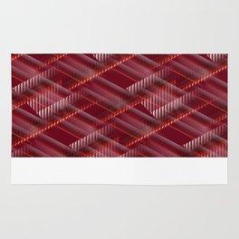 Pattern red shutter Rug