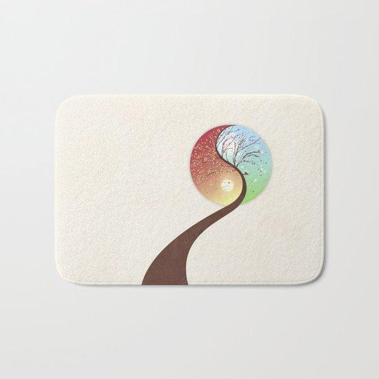 Yin-Yang Tree: Autumn-Spring Bath Mat