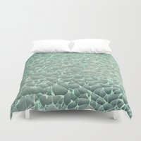 mercedes Duvet Covers featuring Shattered by RichCaspian