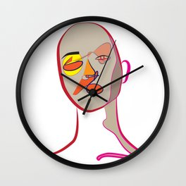 Face of Colours Wall Clock