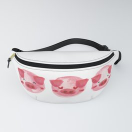 Watercolor 3 Little Piggy Fanny Pack