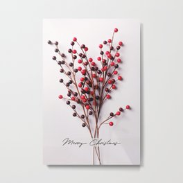 Minimal Christmas Bouquet Metal Print