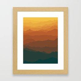 Ombré Range No. 3 Framed Art Print