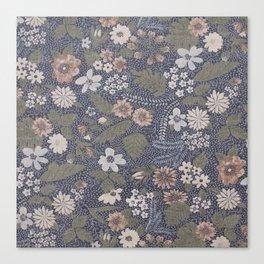 Seafoam Floral Pattern Canvas Print