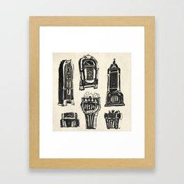 Jukebox Framed Art Print