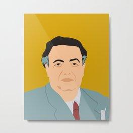 Diego Rivera portrait Metal Print