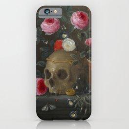 Death and Roses Jan van Kessel Vanitas Still Life iPhone Case