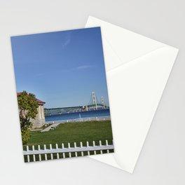 Mackinac Bridge and Mackinaw Lighthouse Stationery Cards