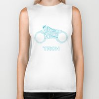 tron Biker Tanks featuring Tron Legacy: Light Cycle by Divesh Sehgal Design