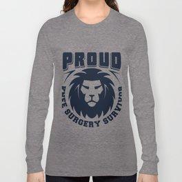 Proud Knee Surgery Survivor Gift Long Sleeve T-shirt
