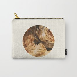 Abstract Wood Design Carry-All Pouch