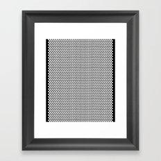 white dots Framed Art Print