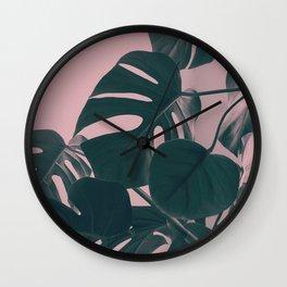 Romantic Monstera Wall Clock