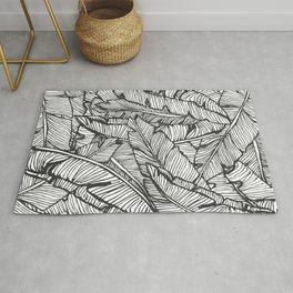 Black & White Jungle #society6 #decor #buyart Rug
