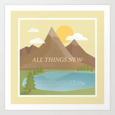 All Things New - yellow (version 2) Art Print