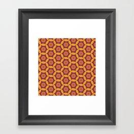 Autumn geometric1 Framed Art Print