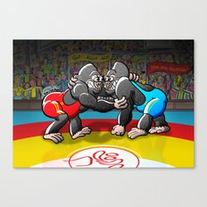 Olympic Wrestling Gorillas Canvas Print