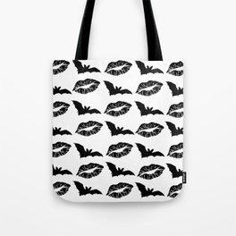 Black lipstick and bats Tote Bag