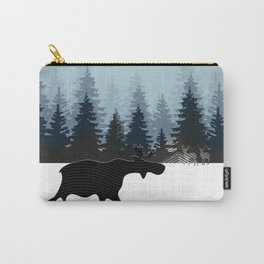WINTER WALK OF A MOOSE Carry-All Pouch