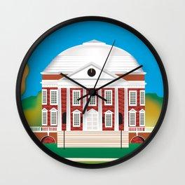 Charlottesville, Virginia - Skyline Illustration by Loose Petals Wall Clock