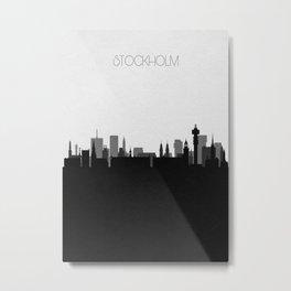 City Skylines: Stockholm Metal Print