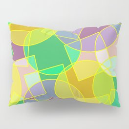 Colorful abstract geometric pattern Pillow Sham