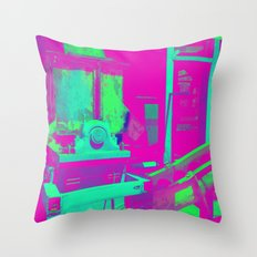 Industrial Abstract Purple Throw Pillow