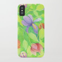 Crayon Love Springtime iPhone Case
