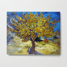 The Mulberry Tree in Autumn by Vincent van Gogh Metal Print