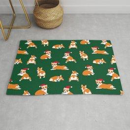 Christmas Corgis Pattern Rug