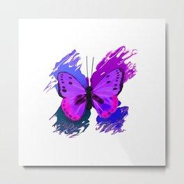 Purple Butterfly Metal Print