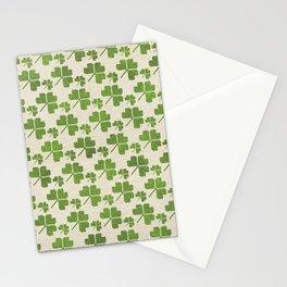 Irish Shamrock clover  pattern Stationery Cards