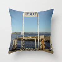 oslo Throw Pillows featuring Oslo by fedepallas
