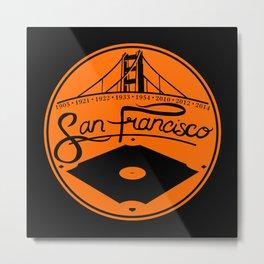SF Giants 8-Time World Champions Metal Print