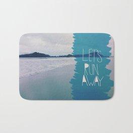 Let's Run Away: Manuel Antonio, Costa Rica Bath Mat